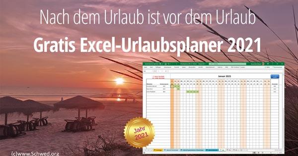 Excel Urlaubsplaner Vorlage zum kostenlosen Download